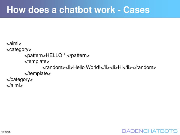 How does a chatbot work - Cases