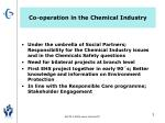 co operation in the chemical industry