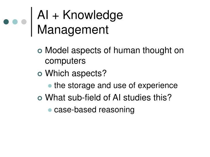 AI + Knowledge Management