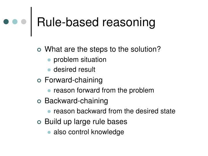 Rule-based reasoning