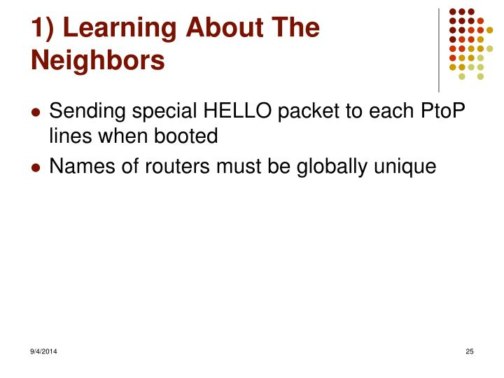 1) Learning About The Neighbors