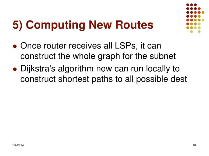 5) Computing New Routes