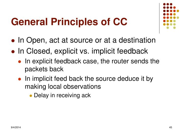 General Principles of CC