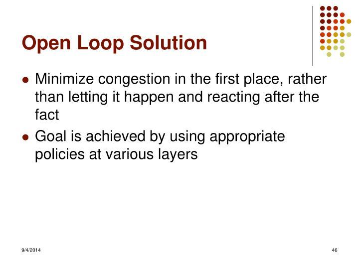 Open Loop Solution