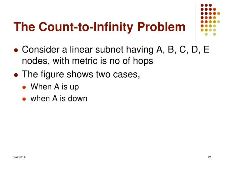 The Count-to-Infinity Problem