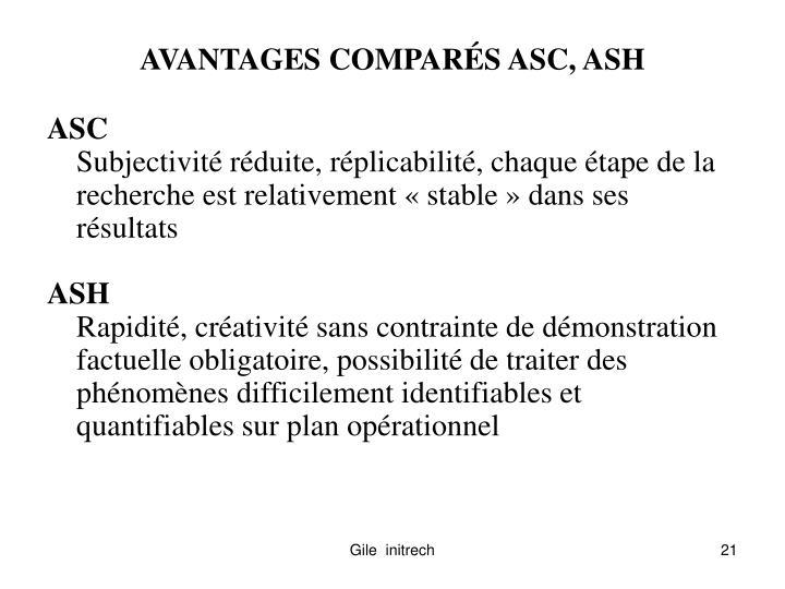 AVANTAGES COMPAR
