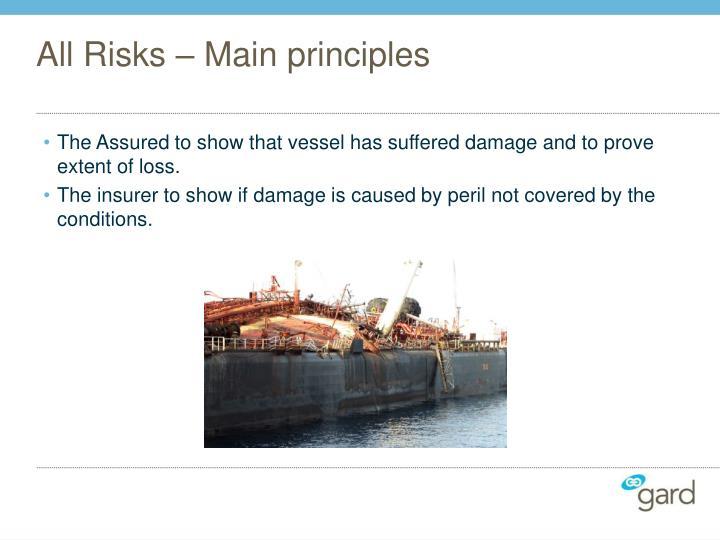 All Risks – Main principles