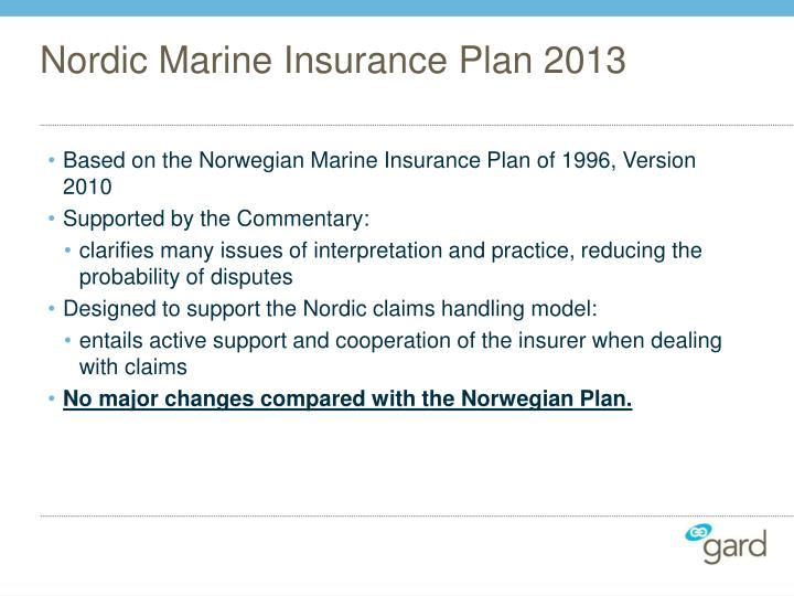 Nordic Marine Insurance Plan 2013