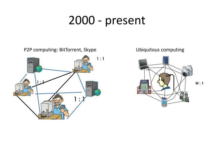 2000 - present