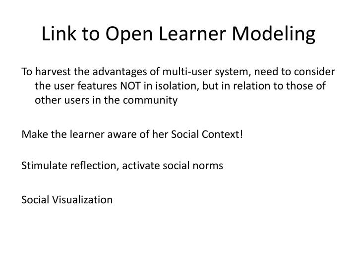 Link to Open Learner Modeling