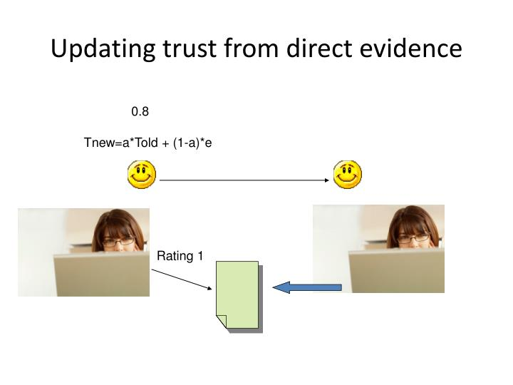 Updating trust from direct evidence
