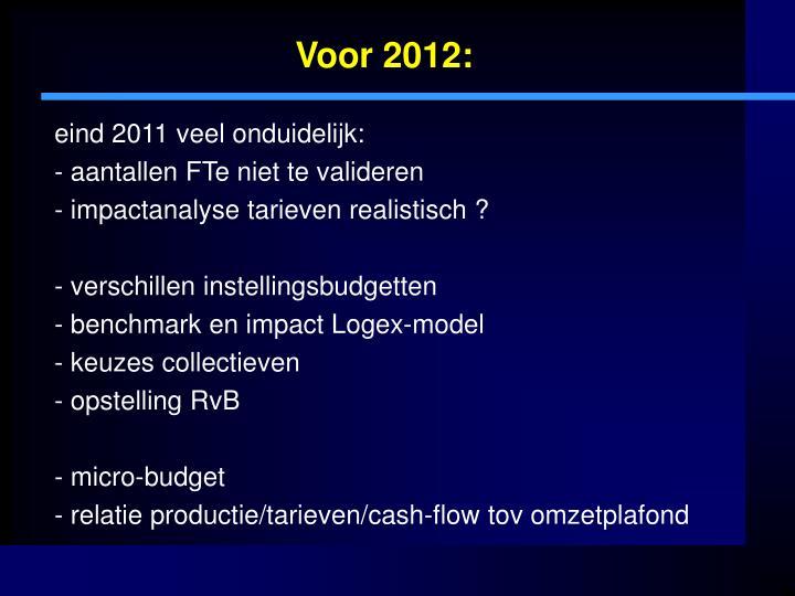 Voor 2012: