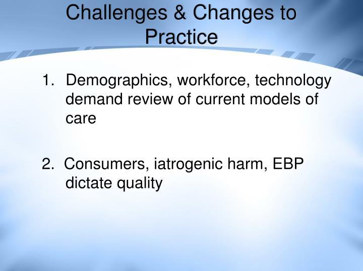 Challenges & Changes to Practice