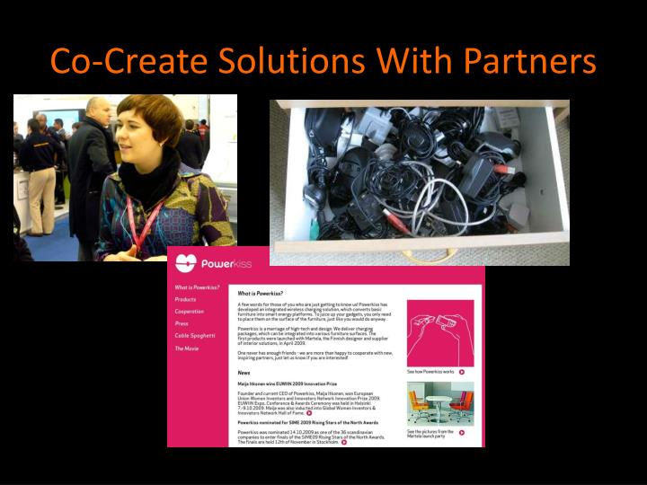 Co-Create Solutions With Partners