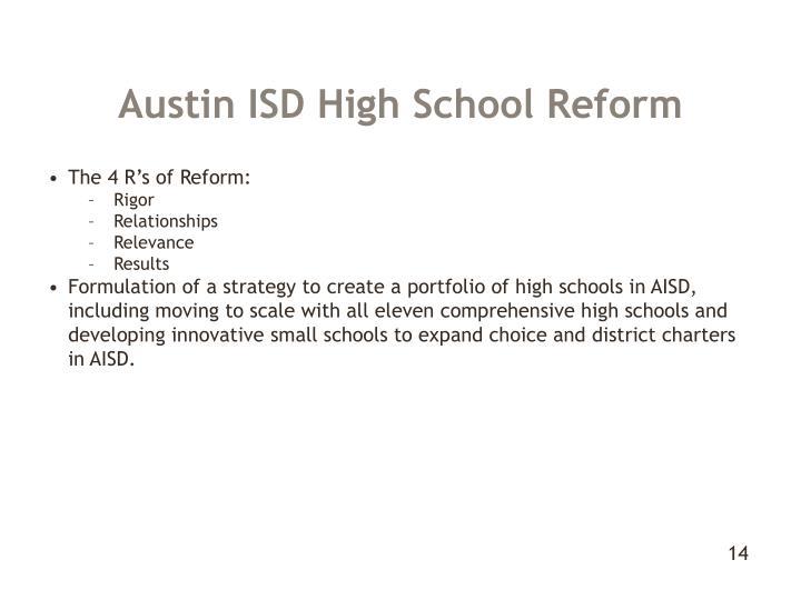 Austin ISD High School Reform