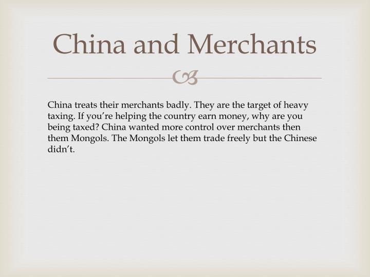 China and Merchants