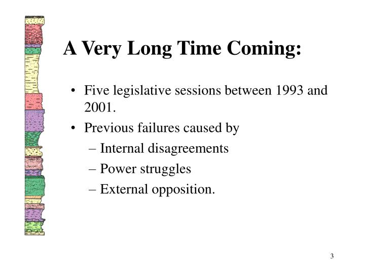 A Very Long Time Coming: