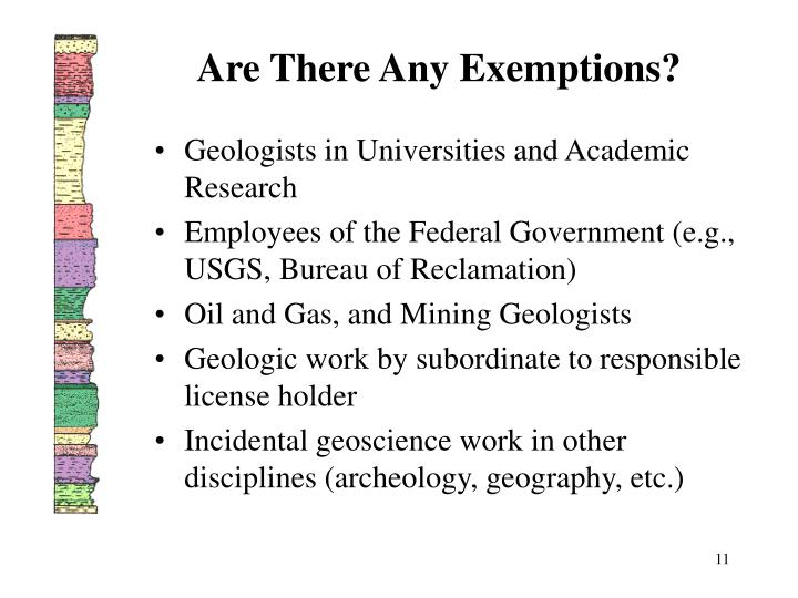 Are There Any Exemptions?