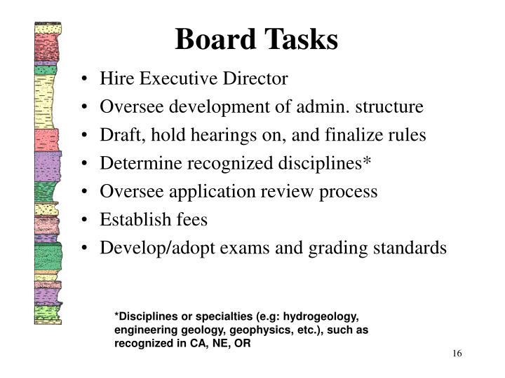 Board Tasks
