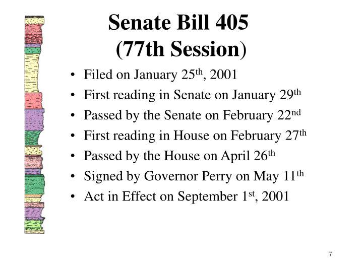 Senate Bill 405