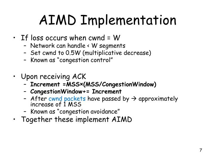AIMD Implementation