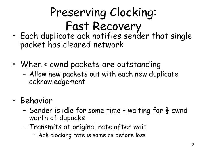 Preserving Clocking: