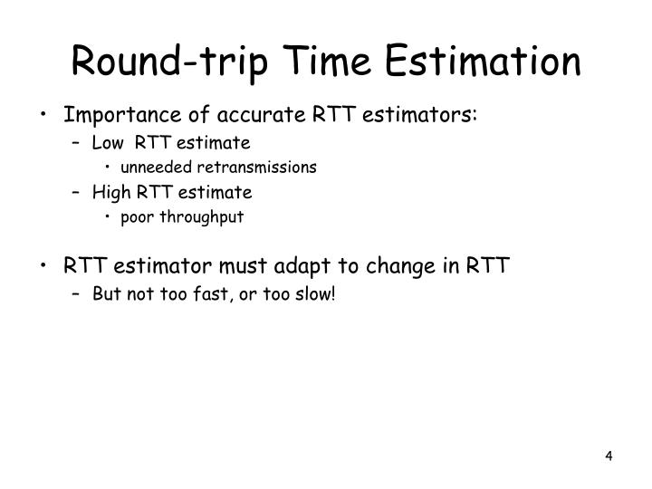 Round-trip Time Estimation