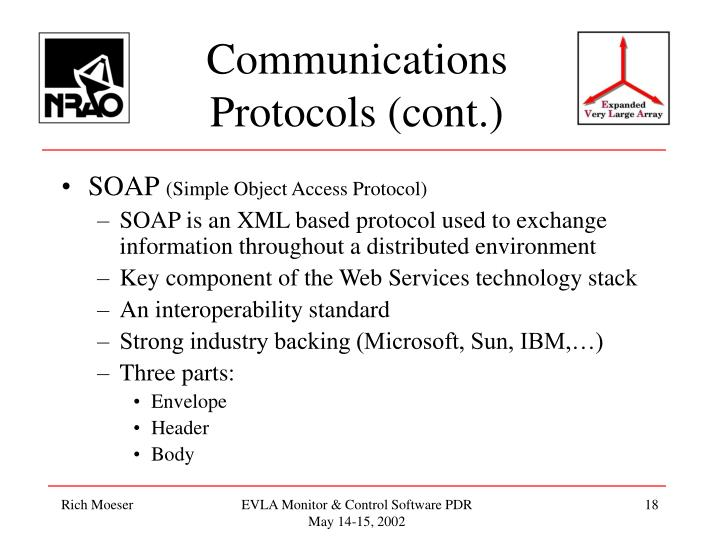 Communications Protocols (cont.)