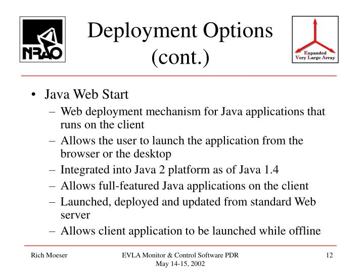 Deployment Options (cont.)