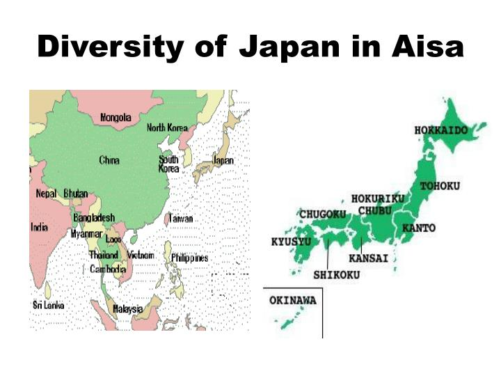 Diversity of Japan in Aisa