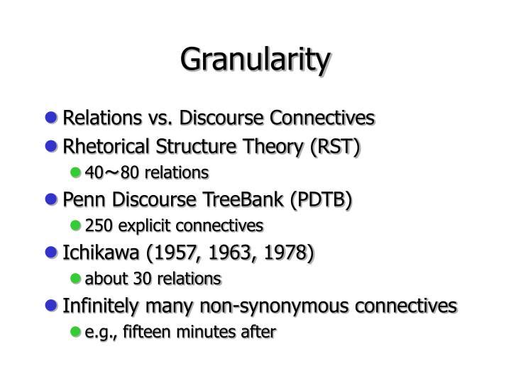 Granularity