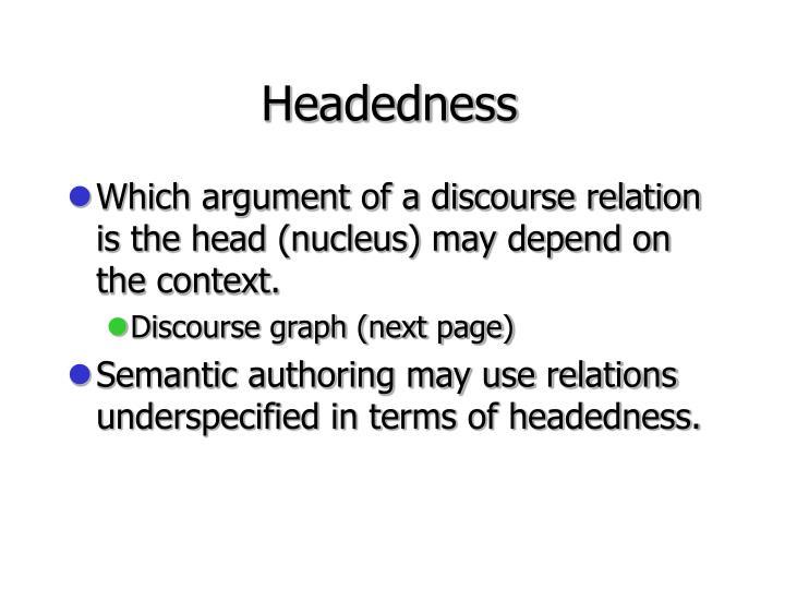 Headedness