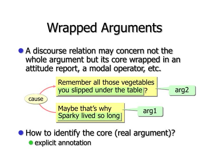 Wrapped Arguments