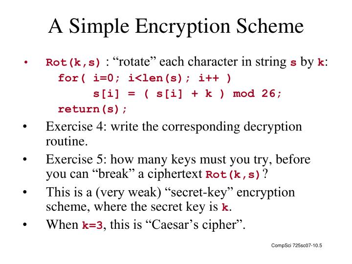 A Simple Encryption Scheme