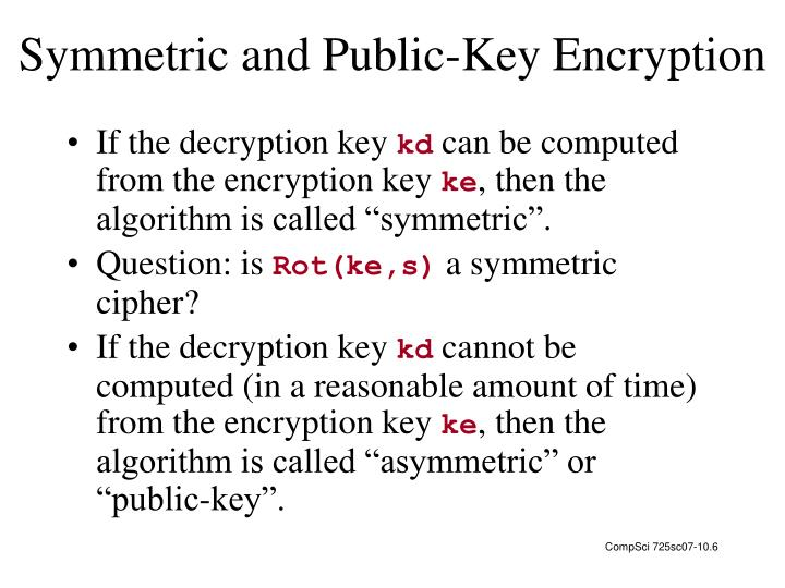 Symmetric and Public-Key Encryption