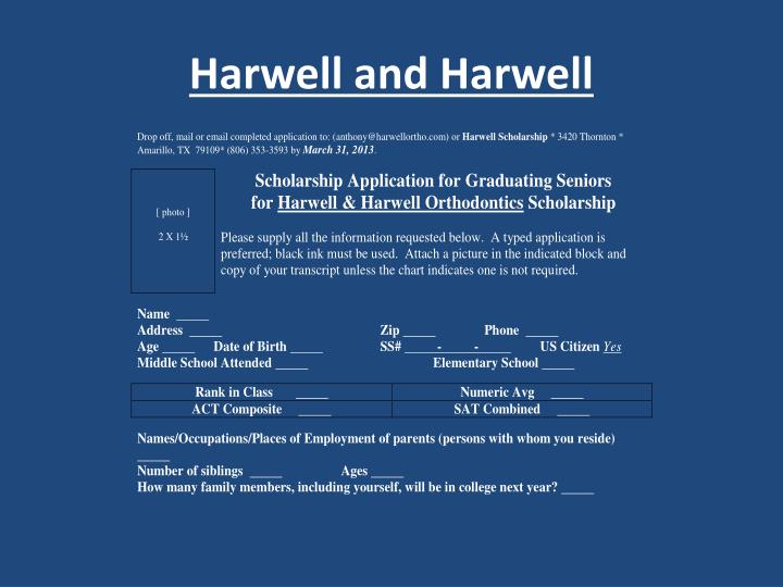 Harwell and Harwell