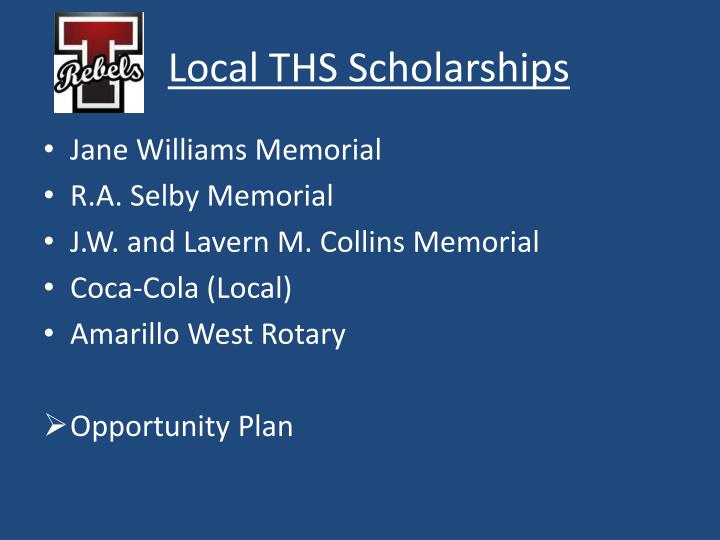 Local THS Scholarships