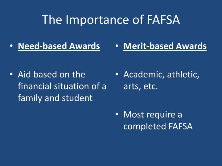 The Importance of FAFSA