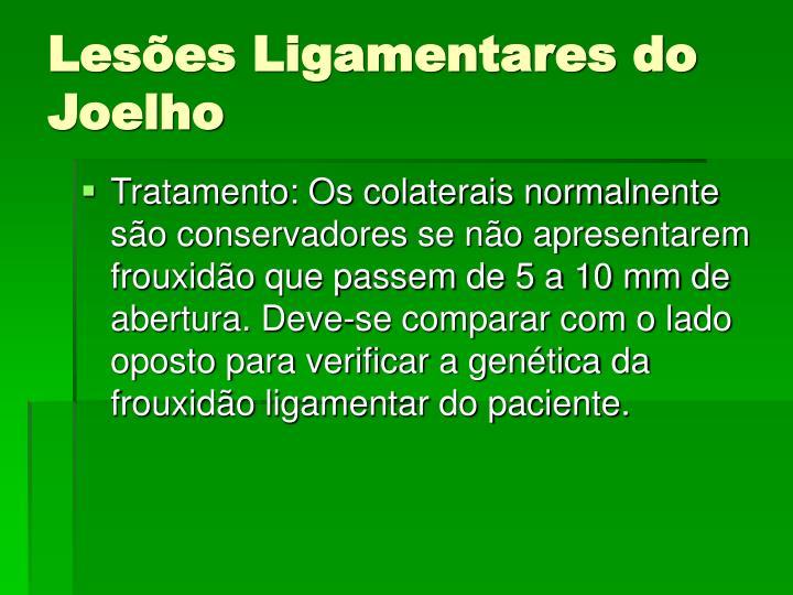 Lesões Ligamentares do Joelho