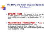 the ippc and alien invasive species definitions 1