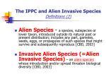 the ippc and alien invasive species definitions 2