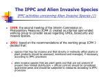 the ippc and alien invasive species ippc activities concerning alien invasive species 1