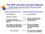 the ippc and alien invasive species relationship between plant pests and aiss
