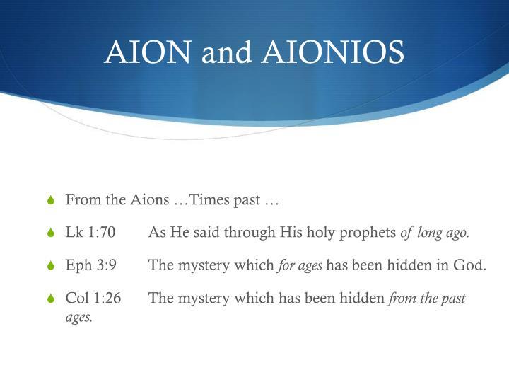 AION and AIONIOS