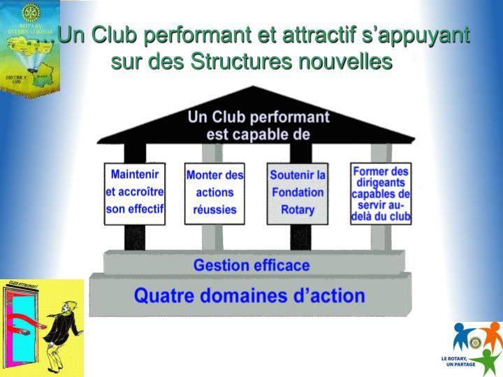 …Un Club performant et attractif s'appuyant sur des Structures nouvelles