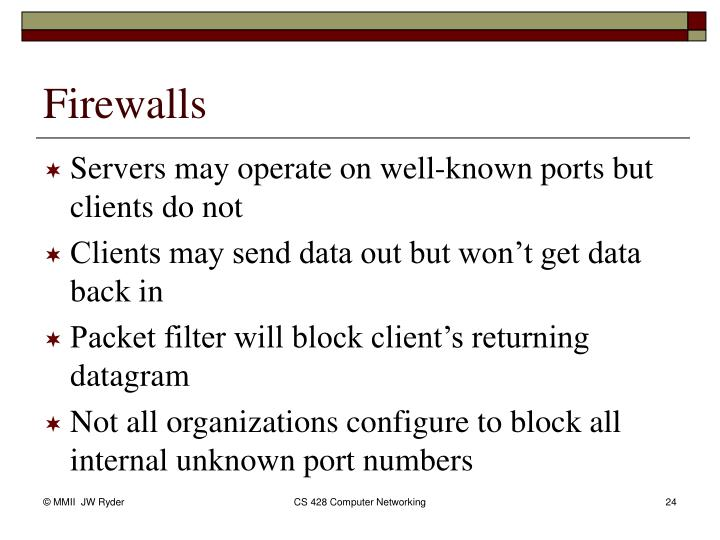 Servers may operate on well-known ports but clients do not
