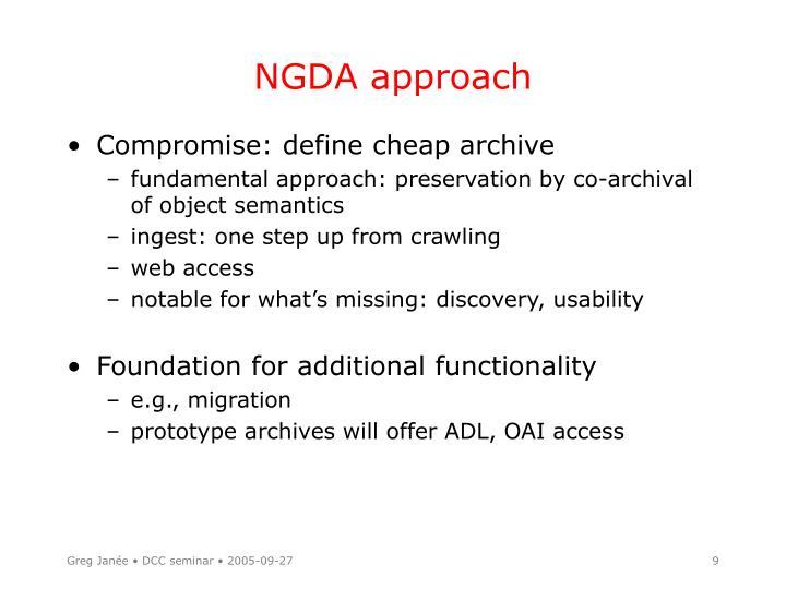 NGDA approach