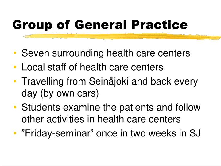 Group of General Practice