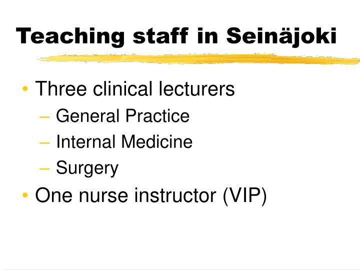 Teaching staff in Seinäjoki