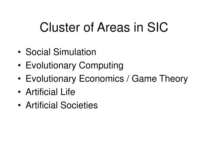 Cluster of Areas in SIC